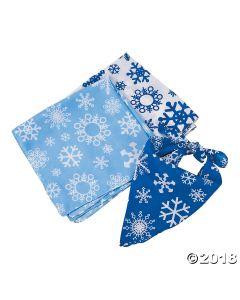 Snowflake Print Bandanas