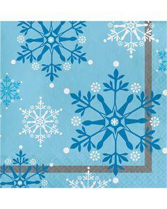 Snowflake Swirls Lunch Napkins