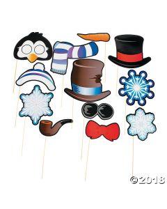 Snowman & Penguin Photo Stick Props