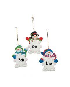 Snowman Snowflake Christmas Ornaments