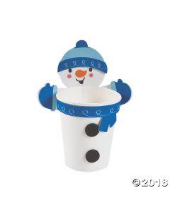 Snowman Treat Cup Hugger Craft Kit