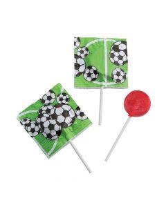 Soccer Printed Lollipops