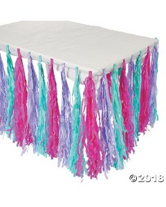 Spa Party Fringe Table Skirt