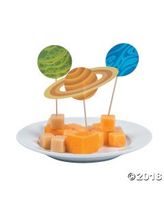 Space Party Cupcake Picks