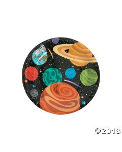 Space Party Paper Dessert Plates