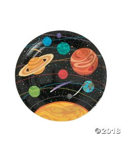 Space Party Paper Dinner Plates
