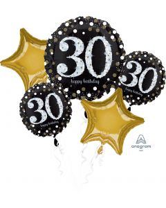 Sparkling Birthday 30 Balloon Bouquet