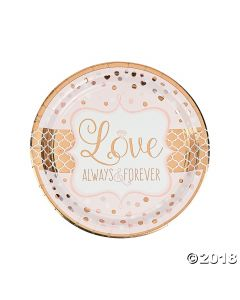 Sparkling Wedding Metallic Paper Lunch Plates