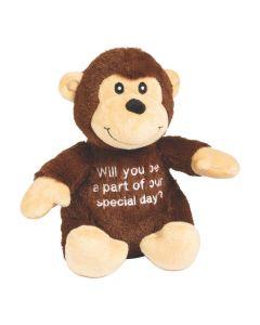 Special Day Stuffed Wedding Monkey