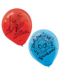 Spiderman Web Latex Balloons