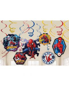 Spiderman Web Swirl Decorations