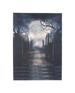 Spooky Night Cemetery Backdrop