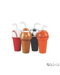 Sport Cup Assortment with Straws