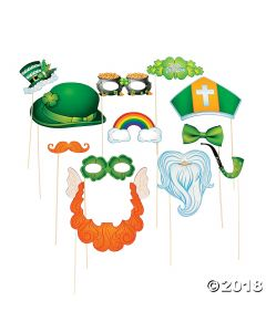 ST. Patricks Day Costume Photo Stick Props