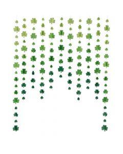 St. Patrick's Day Hanging Shamrocks Curtain Backdrop