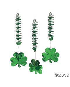 ST. Patricks Day Shamrock Dangling Spirals