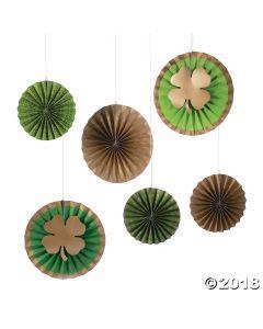 St. Patrick's Print Hanging Paper Fan Decorations