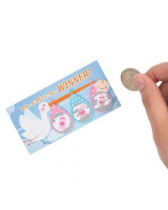 Stork Baby Shower Scratch Off Tickets