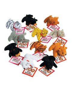 Stuffed Zoo Animals with Valentine's Day Cards