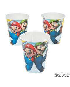 Super Mario Brothers Paper Cups
