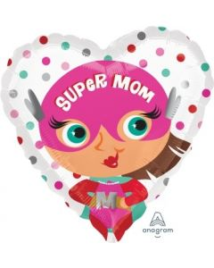 Super Mom Heart Shape Foil Balloon