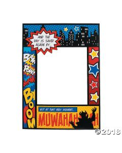 Superhero Comic Book Photo Prop