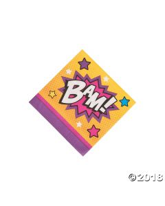 Superhero Girl Beverage Napkins