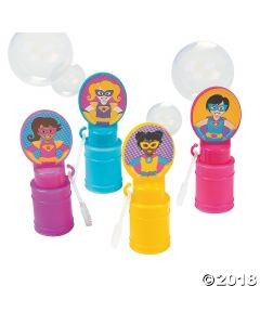 Superhero Girl Bubble Bottles