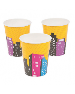 Superhero Girl Paper Cups