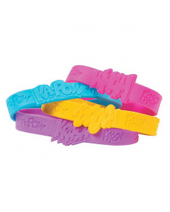 Superhero Girl Sayings Rubber Bracelets