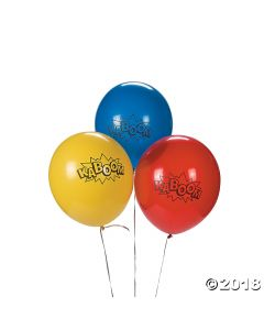 Superhero Latex Balloons
