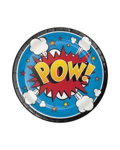 Superhero Slogans Dessert Plate