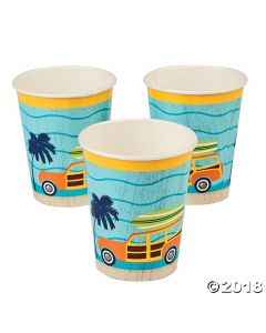 Surfs up Paper Cups