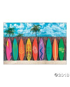 Surfs up Surfboard Backdrop