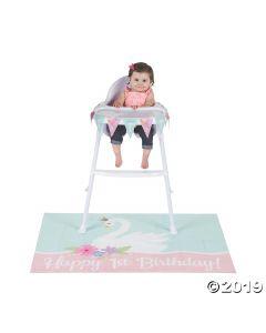 Sweet Swan 1ST Birthday Party High Chair Decor Kit