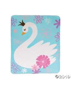 Sweet Swan Fleece Throw