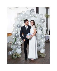 Talking Tables White and Silver Balloon Arch Kit
