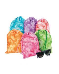 Tie-dyed Drawstring Bags