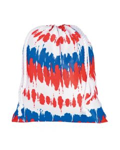 Tie-Dyed Patriotic Drawstring Bags