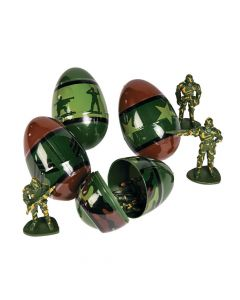 Toy-Filled Army Plastic Easter Eggs