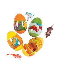 Toy-Filled Dinosaur Plastic Easter Eggs