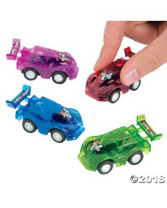 Translucent Pullback Race Cars