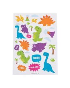 Trendy Dinosaur Sticker Sheets
