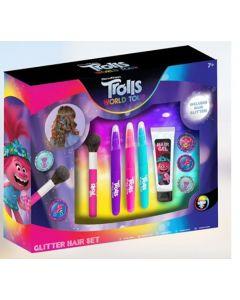 Trolls World Tour Glitter Hair Set