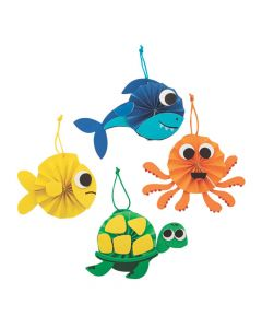 Tropical Animal Mini Fan Craft Kit