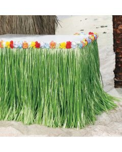 Tropical Flowered Table Skirt