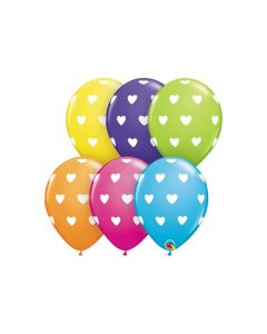 "Tropical Heart Print 9"" Latex Balloon Assortment"