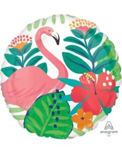 Tropical Jungle Flamingo Foil Balloon
