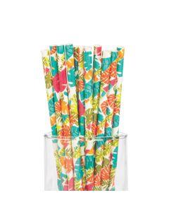 Tropical Leaf Paper Straws