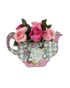 Truly Alice Teapot Vase Tabletop Decoration